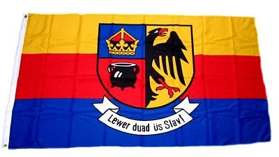 Fahne / Flagge Nordfriesland Schrift 60 x 90 cm Flaggen