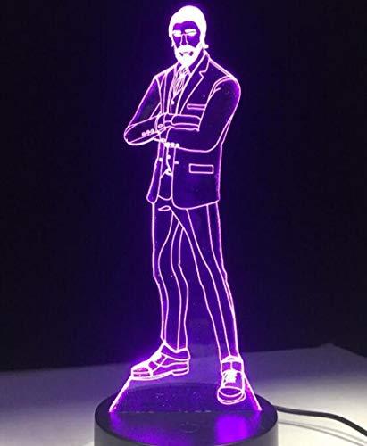 Lámpara Led Lámpara De Mesa De Escritorio De 7 Colores Con Interruptor Táctil Luz De Lava Lámpara De Acrílico Ilusión Habitación Atmósfera Iluminación Juego Aficionados Regalo Todas Las Pieles