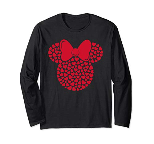 Disney Minnie Mouse Icon Filled with Hearts Long Sleeve T-Shirt