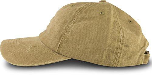 fashionchimp ® Baseballcap im Vintage Used-Look aus 100% Baumwolle, Unisex Jeans Denim Cap (Sand)