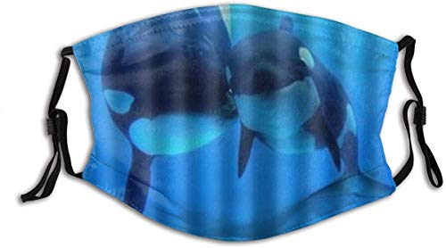 made in usa Orca Killer Whales Washable Reusable Filter and Reusable Mouth Warm Windproof