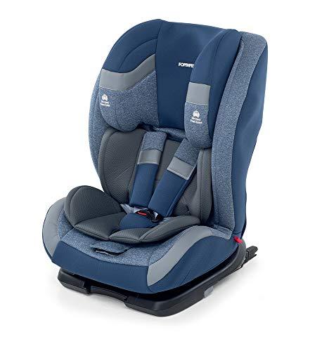 Foppapedretti Re-klino Fix Silla de coche Grupo 1-2-3 (9-36 Kg) Isofix, FIX SEGG.AUTO, Azul (sky)