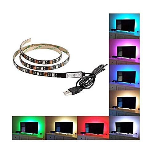 100 cm 5 V LED tira TV iluminación trasera LED TV retroiluminación Bias Kit de iluminación para HDTV, PC de escritorio