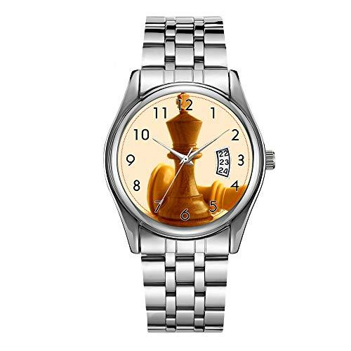 Reloj de lujo de los hombres 30m impermeable fecha reloj masculino deportes relojes hombres cuarzo casual Navidad reloj de pulsera ajedrez 37 reloj de pulsera