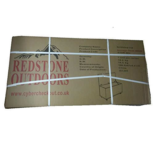 Redstone Holztruhe Sitztruhe weiß, 100x40x40cm - 6