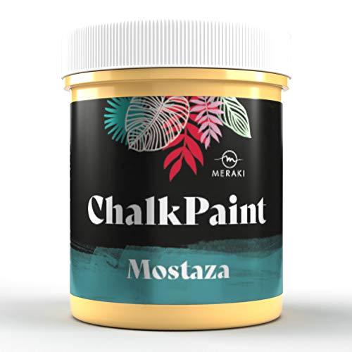 CHALK PAINT Pintura efecto tiza al agua mate (500ML, MOSTAZA)