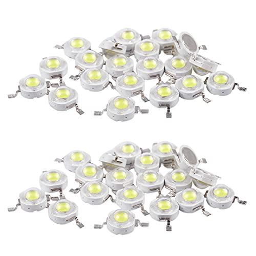 Beada 40 emisores de cuentas LED de alta potencia de 2 pines 3 W, 170 – 190 lúmenes, 6000 K
