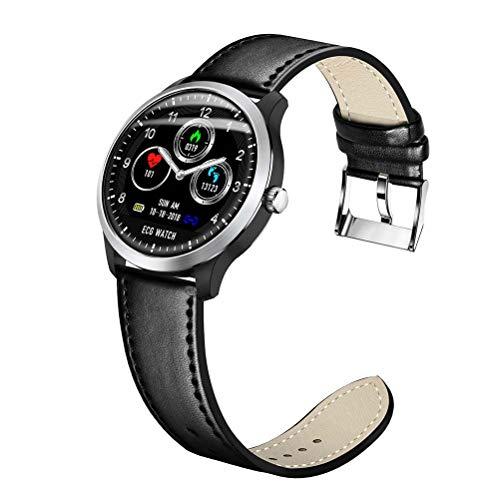 N58 Smart Band Herzfrequenz Schlaf Monitor Sport Tracker Uhr Blutdruck Smartwatch EKG-Farbbildschirm Armband,Schwarz