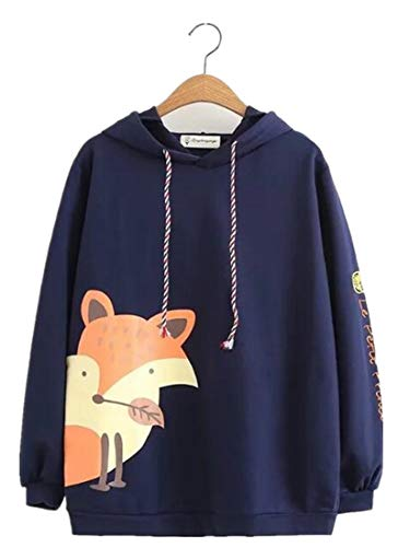 XVOVX Girls Animal Narwhal Fox Cotton Long Sleeve Hoodie Pullover Sweatshirt Jacket Tops