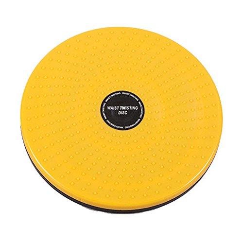 Yonganuk Corps Twister planches, tour de taille Torsion disque, Twist Taille Torsion disque d'équilibre de fitness, aérobic rotatif Tableau Bon Ménage minceur outils, jaune