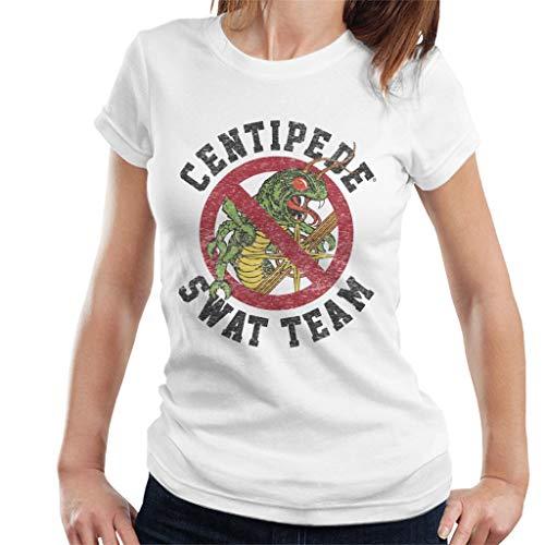 Women's Centipede Swat Team T-shirt, White