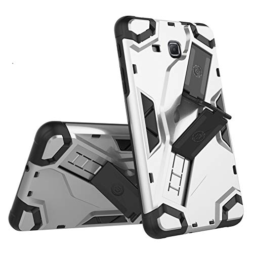 QiuKui Tab Funda For la lengüeta Un A6 Caja de la Tableta de Golpes Heavy Duty 7.0 T280 T285 SM-T280 híbrido Caja de la Armadura for la lengüeta Un A6 7.0 (Color : Silver)