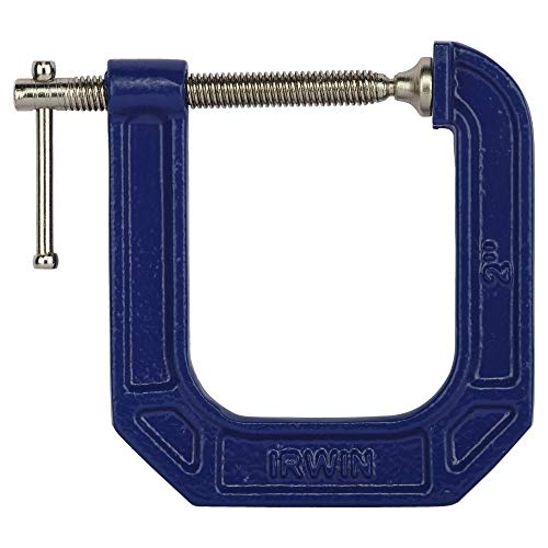 IRWIN Tools QUICK-GRIP 100 Series Deep Throat C-Clamp, 2-inch by 3 1/2-inch Throat (225123)