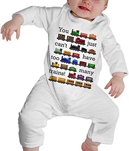 Unisex Muchos Trenes bebé recién Nacido 6-24 Meses Ropa de Escalada para bebé Ropa de Manga Larga para bebé Monos Negros Monos para bebé