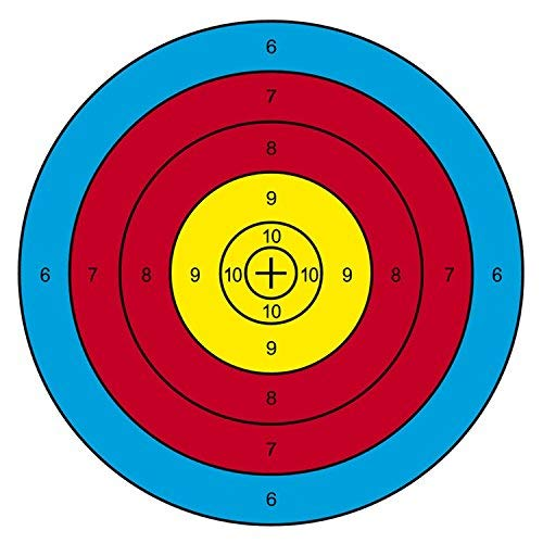 Archery Targets Paper Targets 20Pcs 16x16inch Bow and Arrow Targets for Shooting Archery Accessories Ideal for Match and Daily Practice Use Outdoor Shooting Face, Ideal Gift for Arrow Shoot Practicer