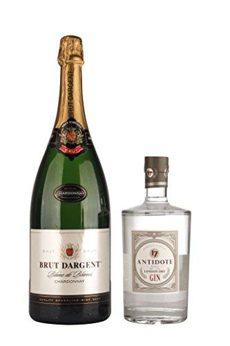 Brut Dargent Chardonnay Halbtrocken - Méthode Traditionnelle (1 x 1.5 l) + Antidote London Dry Gin (1 x 0.7 l)