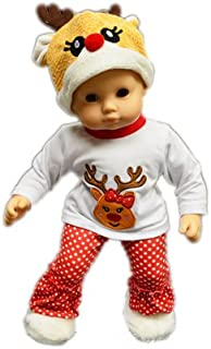 Brittany's My Reindeer Pj and Lounge Set Compatible with Bitty Baby Dolls- Baby Doll Clothes