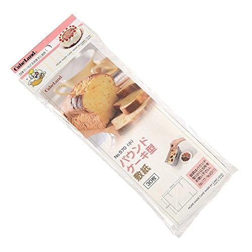 タイガークラウン 敷紙 白 282×190mm 敷紙パウンド型0.5斤用 グラシン紙 パウンドケーキ型 570 30枚入