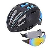 Fahrradhelm mit Abnehmbarer magnetischer Brille Visierschutz für Mountainbike-Rennradhelme, aerodynamisches Design Kraft für Fahrrad, leichte Fahrradhelme L 6