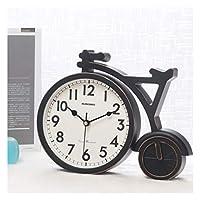 WFL クロック 時計の装飾ホームパーソナリティクリエイティブリビングルーム時計デスクトップの時計デスクトップブロック振り子のベッドルームサイレント置時計、ホワイトゴールド 最新の (Color : C)