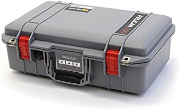 Silver & Red Pelican 1485 Air case with Foam.