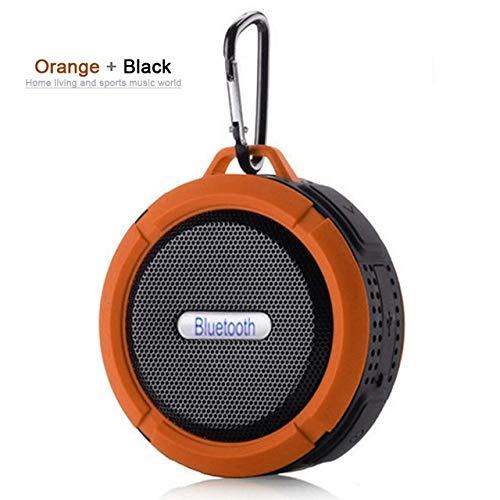 qiyan Caja de Sonido para Exteriores Inalámbrico Mini Altavoz Bluetooth Subwoofer portátil Sistema de Sonido Envolvente Bluetooth Ducha Impermeable Altavoz en Altavoces portátiles Naranja