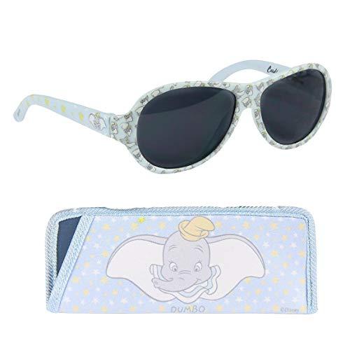 Dumbo - Gafas de sol flexibles con funda para bebé (niños y niñas), color azul
