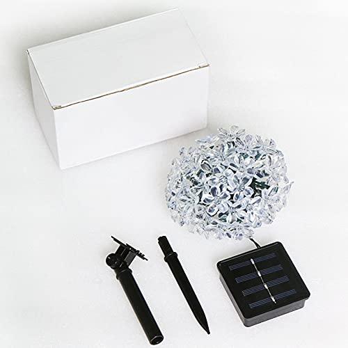 TRHJ Cherry Blossom Modeling LED Solar Flashing String Lights Outdoor Impermeable String Lights Navidad Patio Decoración White