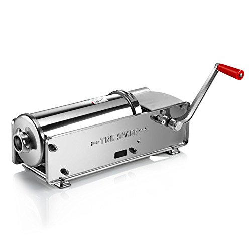 Fma Omcan 13738 Tre Spade All Stainless Steel Horizontal 15 lbs. Sausage Stuffer Two Speed