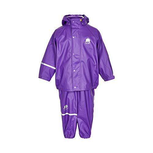 Celavi Celavi Kinder Mädchen Regen Anzug, Jacke und Hose, Alter 6-7 Jahre, Größe: 120, Farbe: Lila, 1145
