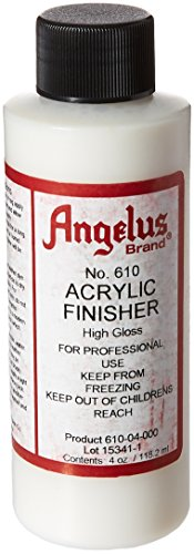Angelus Brand Acrylic Leather Paint High Gloss Finisher No. 610 - 4oz, Packaging may vary