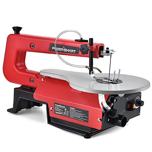 PowerSmart Scroll Saw 16 Inch - Variable Speed 400-1,600RPM, Scroll Saw for Woodworking