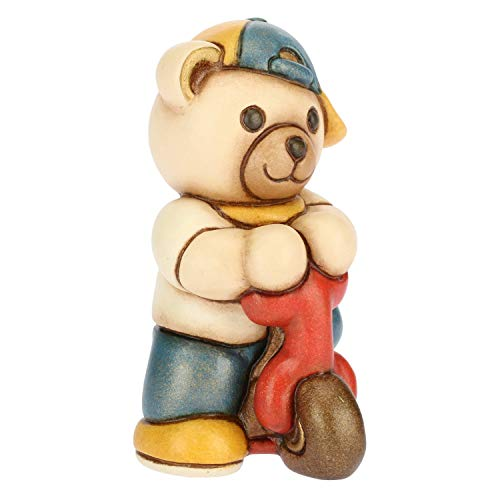 THUN - Teddy con Monopattino - Formato Piccolo - Ceramica - h 7,4 cm