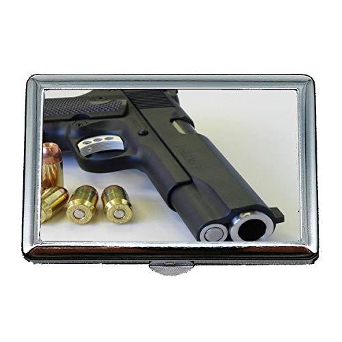 Portasigarette/scatola, supporto per pistola, portasigarette, nuova pistola, porta biglietti da visita in acciaio inossidabile