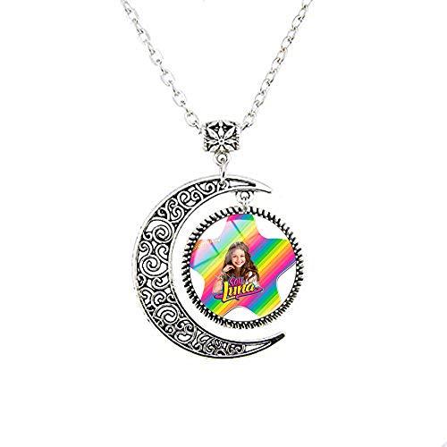 Super Popular Singer Soy Luna Necklaces Handmade Art Picture Glass Cabochon Pendant Moon Necklace