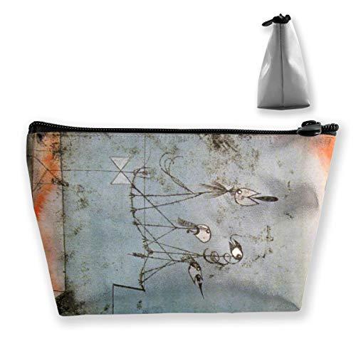 Paul Klee Trousse à maquillage portable de voyage rectangulaire