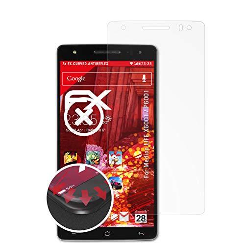 atFolix Schutzfolie kompatibel mit Medion Life X6001 / P6001 Folie, entspiegelnde & Flexible FX Bildschirmschutzfolie (3X)