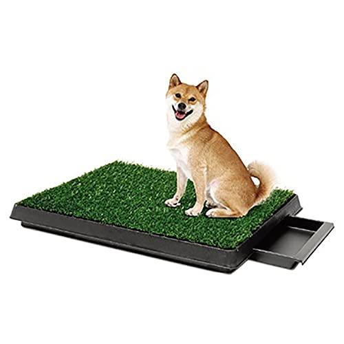 Hundetoilette Indoor Puppy Training Pad,Bodenschutzschale für Hundetraining,abnehmbare Schale, wasserdicht und leicht zu reinigen, ungiftiger und umweltfreundlicher Kunstrasen (20