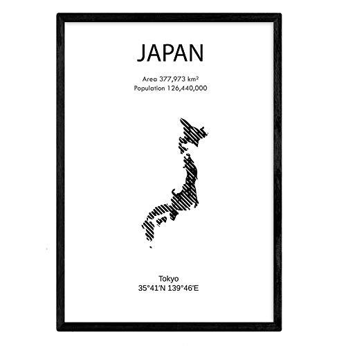 Nacnic Poster de Japón. Láminas de Paises y continentes del Mundo. Tamaño A3