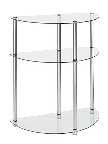 Conveniencia Conceptos Designs2Go 3-Tier Mesa de Entrada de Cristal, Cristal