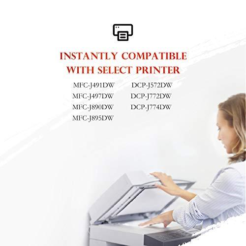 ejet LC3213 Cartuchos de Tinta Compatible para Brother LC-3213 LC-3211 para Brother DCP-J572DW MFC-J491DW MFC-J497DW MFC-J890DW MFC-J895DW DCP-J774DW DCP-J772DW (2 Negro,1 Cian,1 Magenta,1 Amarillo)