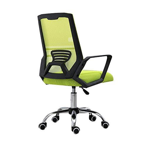 N/Z Tägliche Ausrüstung Stuhl Bürostuhl Einteilige Rückenlehne Hochdrehender Computerstuhl Ergonomie Executive Chair für Studentenwohnheim Büro Nennlastkapazität: 150 kg (330 lbs) Blau