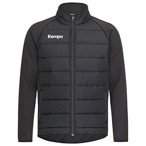 Kempa Core 2.0 Puffer Jacke, Giacca Uomo, Nero, L