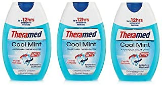 NEW 3 X THERAMED 2 IN 1 TOOTHPASTE & MOUTHWASH COOL MINT 75ML - TRAVEL DENTAL CARE by Theramed