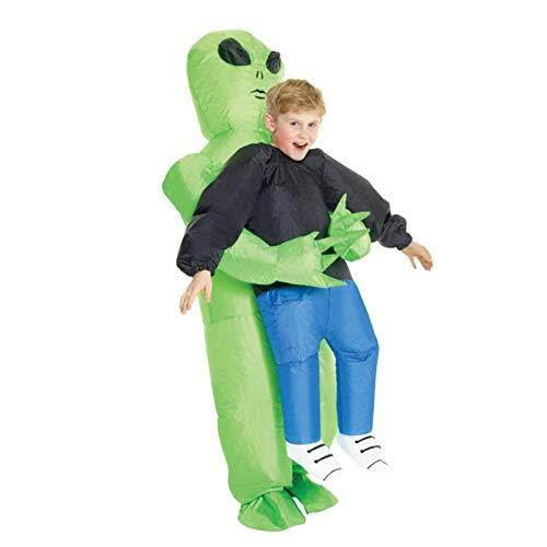 ASENVER ET 宇宙人 ハロウィン 仮装 変装スーツ いたずら コスプレ 着ぐるみ クリスマス 子供用 成人用 パフォーマンス道具 膨張式 (子供)