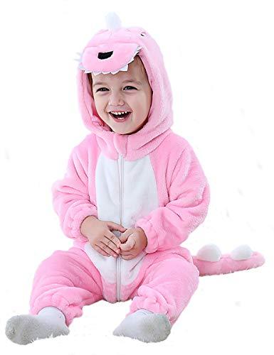 MOMBEBE COSLAND Pagliaccetto Inverno Bambino Neonato Flanella Panda Tutine (Panda, 6-12 M)