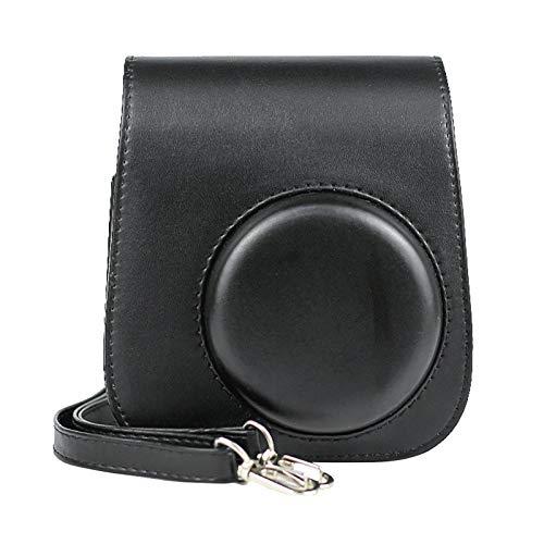 Kamera-Taschen Hülle für Instax Mini 11 Film Camera Sofortbildkamera, Kunstleder Schutztasche Kompaktkamera-Taschen mit Schultergurt & Tasche Case Cover (Black)