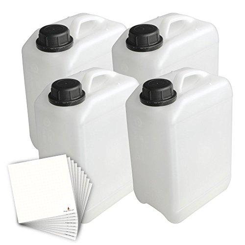 Trevendo 4er Set Kanister, lebensmittelecht (3 Liter)