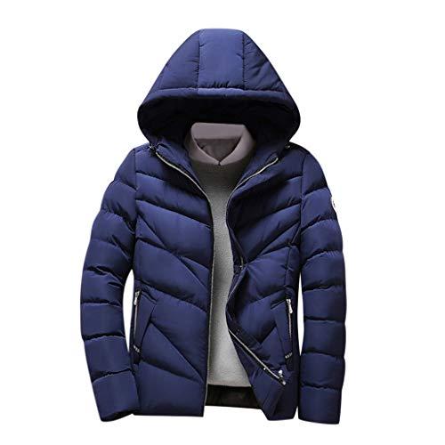 Daysing Herren Winterjacke Steppjacke Jacke Slim Daunenjacke Oversize Outdoor-Sportjacke Winddichte Jacke Warmer Wintermantel mit Kapuze Parker Coat