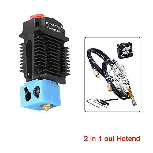 PoPprint ZSYong 12 V 2 in 1 Out Black Colour Hotend J Head Extruder 3D Printer Parts Bowden Extruder Multi-Color for 1.75 mm Filament